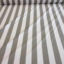Stoff Meterware Baumwolle Blockstreifen grau weiß gestreift Vorhang Kanada
