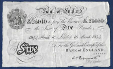 More details for peppiatt white five pounds banknote 1944