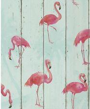 Nuevo Flamenco rosa y verde Papel Pintado Por Barbara Becker Rasch 479706