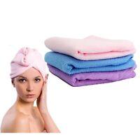 Hair Wrap QUICK HAIR DRYING Towel Turbie Turban Twist Wrap Loop Button Hat Cap