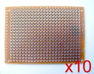 Lot 10 plaques PCB prototype simple face 5x7cm - 10pcs single side Board PCB DIY