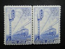Belgium 1942 Stamps MNH Pair Signal and Electric Train Railway Parcel Post WWII