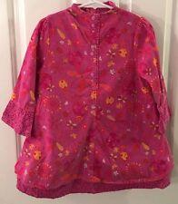 CATIMINI SPIRIT ETHNIQUE Pink Layered Cotton Corduroy DRESS Size 4 EUC