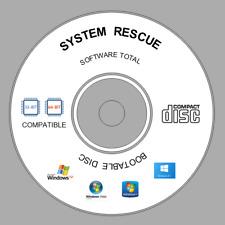 SYSTEM RESCUE CD Disc- Repair / Restore Hard Drive Data Loss CD Disc