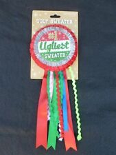SILVESTRI UGLY SWEATER CONTEST PRIZE AWARD RIBBON PIN BACK BUTTON NEW!