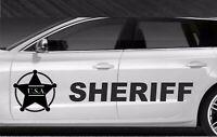 Police sheriff 911 - Bandes Stickers adhésifs décoration - couleur au choix