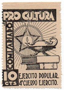 Sello Local Guerra Civil Ejercito Popular Pro Cultura -Cat. Guillamon 851.