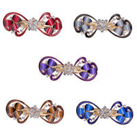 Girl's Crystal Hair Clip Butterfly Hairpin Barrette Rhinestone Plastic Fashion