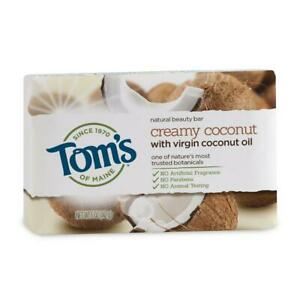 Tom's of Maine Natural Beauty Bar Soap with Virgin Coconut Oil, 5 oz 5 Ounce