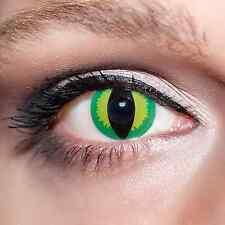 Grüne Kontaktlinsen farbige Drachen Katzenaugen Motivlinsen Green Cat Eyes;K525