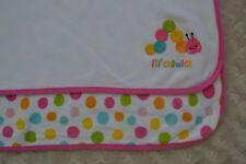 Gymboree Lil' Crawler Baby Blanket Caterpillar Worm Polka Dots Pink White Blue