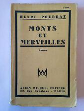 MONTS ET MERVEILLES 1934 HENRI POURRAT