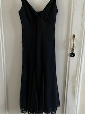 TED BAKER LONDON BLACK SLEEVELESS DRESS SILK, FULLY LINED WITH POLYESTER SIZE 1