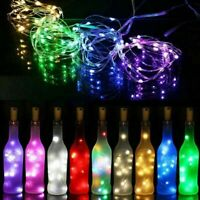 6X20LED Copper Wire Wine Bottle Cork Battery Operated Micro Fairy String Lights