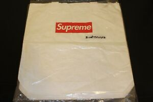SEALED 2015 Supreme Tyvek Paper Tote Bag White F/W Red Box Logo S/S DS AUTHENTIC