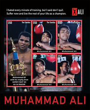 2015 MUHAMMAD ALI - BOXER - POSTAGE STAMPS & SOUVENIR SHEET FROM THE GAMBIA