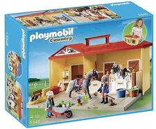 Playmobil #5348 Brand New Sealed Country Pony Farm Take Along Horse Stable