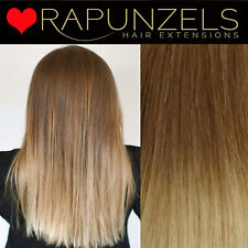 "Hair extensions remy weave weft, Brown to Blonde Ombre 18"", 20"""