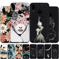 For Huawei P Smart Z Plus 2019 Slim Soft Silicone Black Painted TPU Case Cover