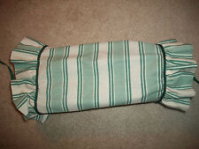 Green Ivory Striped Neckroll Decorative Pillow Sham Green Cording JC Penney