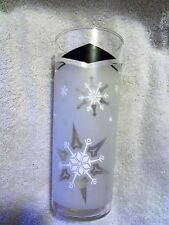 VINTAGE CHRISTMAS ~FROSTED  SNOWFLAKE ~ TALL ICE TEA GLASS ~