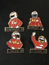 4 pin's Pilote de Formule 1: Senna/Berger/Prost/Alesi - 1991