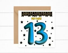 Personalised 13th Birthday Card Boys Son Friend Grandson 13 Today Nephew Brother