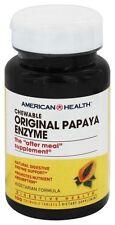American Health Original PAPAYA ENZYME - 100 Chewable Tablets DIGESTIVE HEALTH