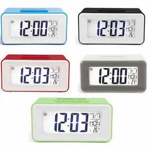 Sveglia  Digitale Orologio Display LCD Luce Datario Temperatura Vari Colori