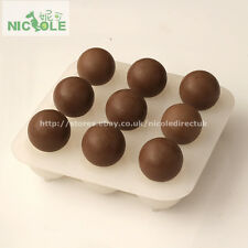 9 Cavities Ball Silicone Soap Mold Baking Fondant Cake Mould DIY Chocolate Tools