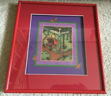 "Mary Engelbreit Red Framed & Matted ""Your Life"" Picture Runaway Child Free Ship"