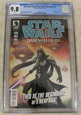 STAR WARS DAWN OF THE JEDI - FORCE STORM (2012)  #1 CGC 9.8 Origin of Je'daii !!