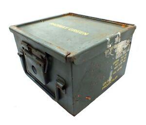 Ammo Box Large British Army Metal Tin Surplus Storage L32 x D29 X H19 CM