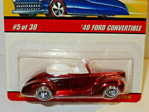 HOT WHEELS CLASSICS  - RED 1940 FORD CONVERTIBLE