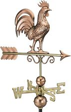 Good Directions Polished Copper Rooster Garden Weathervane with Roof Mount 802PR