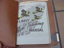 ORIGINAL WWII USN N2S AIRCRAFT PILOT FLIGHT TRAINING MANUAL - 1945