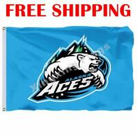 Alaska Aces Logo Flag ECHL Hockey League 2018 Banner 3X5 ft