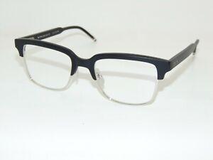 THOM BROWNE TB-709-A-BLK-SLV Matte Black/Silver 51mm Authentic Eyeglasses