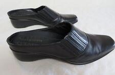 Easy Spirit Randit Womens Slip On Mules Shoes Black Leather Sz 7.5 N  #690