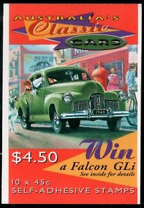 Australia 1997 Classic Cars Booklet Mint Unhinged