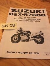 Suzuki GSX-R750G GSX-R 750 G GSXR instruction preparation setup manuel montage