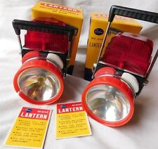 2 VTG 1960'S RIVIERA BATTERY OP LANTERNS IN ORIGINAL BOXES NEVER USED !!