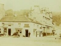 Antique c1890 Sepia Photograph Leyburn North Yorkshire on Glass
