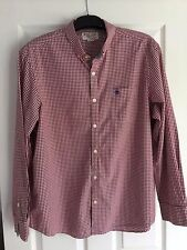 Mens Penguin Shirt by Munsing Wear. Red gingham check Size Large.