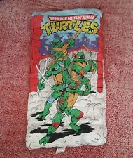 Teenage Mutant Ninja Turtles 1988 Sleeping Bag Vintage Zipper TMNT Red Mirage
