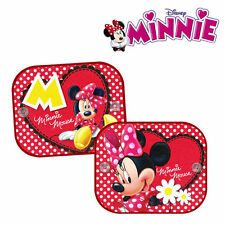2 x Disney Minnie Mouse Car Window Sun Shades UV Visor for Kids Children