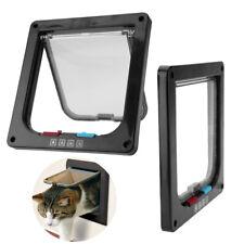 3 Size 4 Way Pet Cat Puppy Dog Supplies Plastic Lock Lockable Safe Flap Door N10
