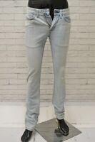 Jeans CELIO* Uomo Taglia Size 25 Pantalone Pants Man Cotone Slim Skinny Fit Blu
