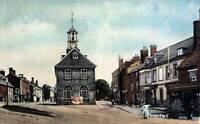 OLD PHOTO England northamptonshire The Town Hall Brackley Circa 1910