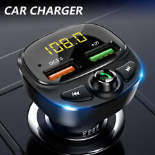 More details for car wireless bluetooth fm transmitter mp3 player 2* usb car fast charger adapter
